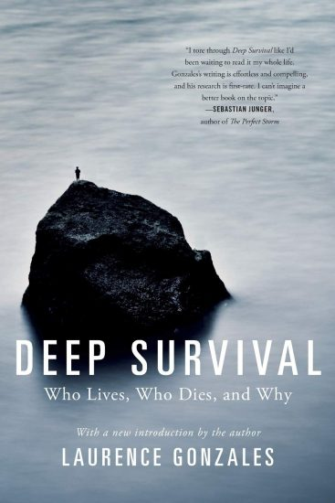 Book cover of a Deep Survival by Laurence Gonzales.