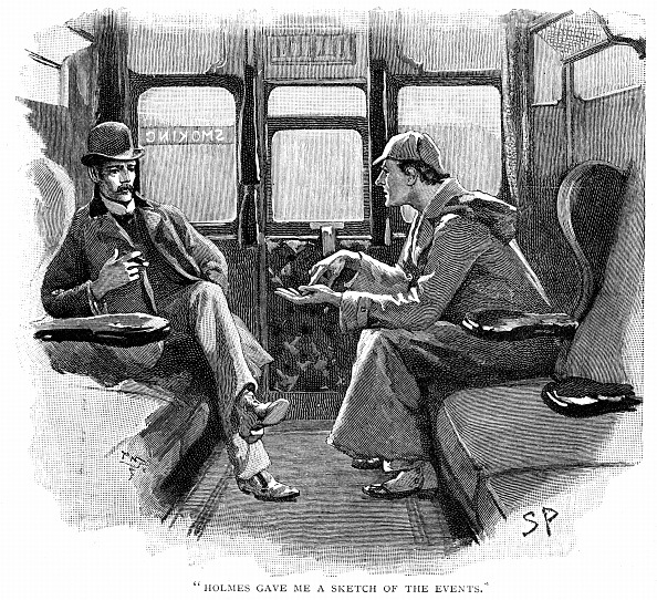 Sketch of Holmes gossiping.