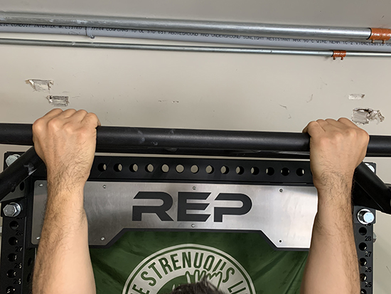 Supine grip for chin ups.