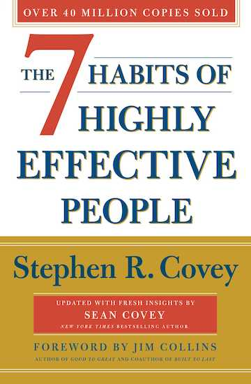 Book cover of The 7 habits of highly effective people by Stephen R.Covey.