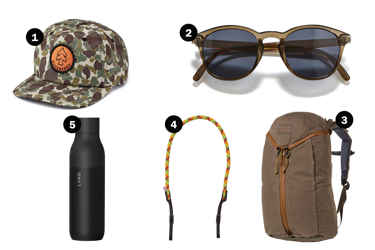 Gears for hiking.