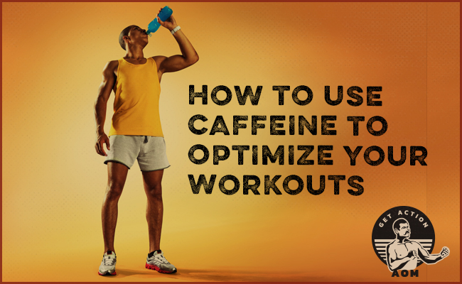 A man is drinking Caffeine to show us how we can optimize our workouts.
