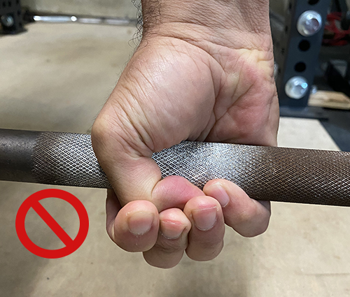 Step 4: Don't press down on the top of your knuckle.