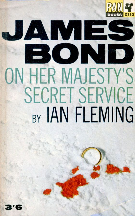 Book cover of a James Bond on her majesty's secret services by Ian Fleming.