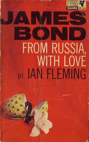 James Bond from Russia with love by Ian Fleming book cover.