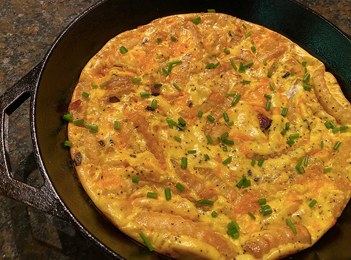 Reuse of french freis in making Frittata.