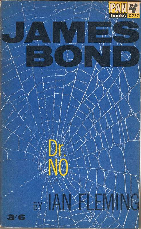 Dr no book cover spider web on it.