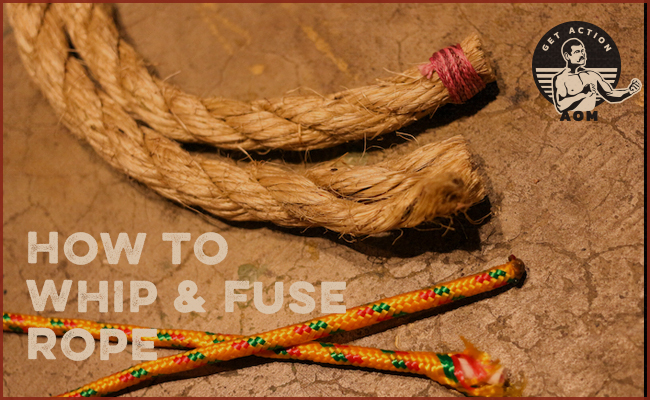 Different types of ropes on the floor.