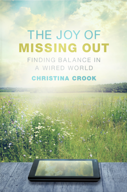 The book cover of Joy of Missing Out by Christine Crook.