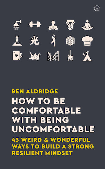 how to be comfortable by ben aldridge book cover.
