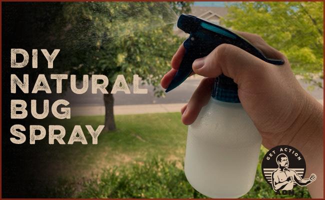 Bug spray in a spray bottle.