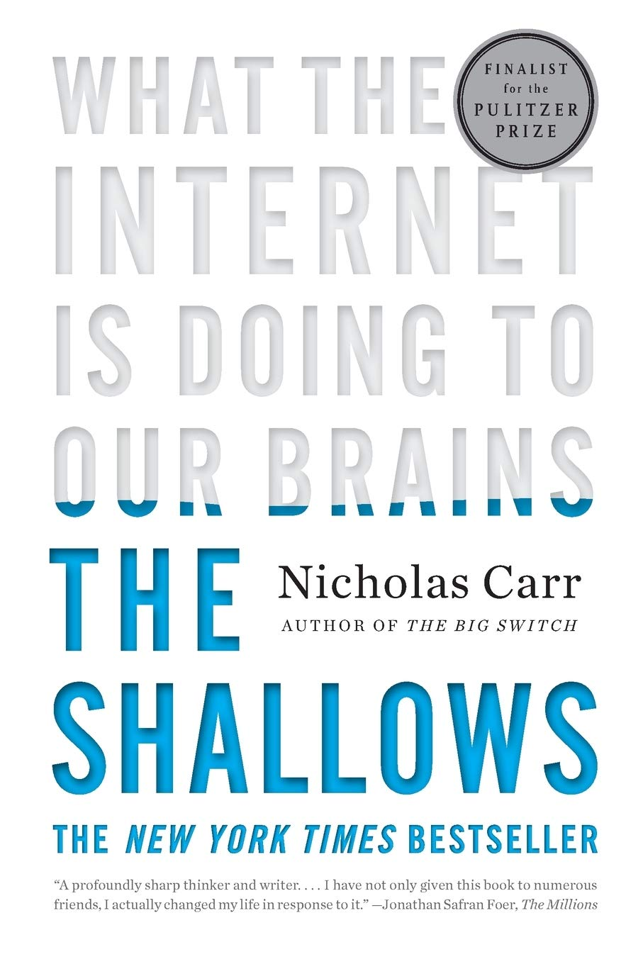 The Shallows book cover by Nicholas Carr.
