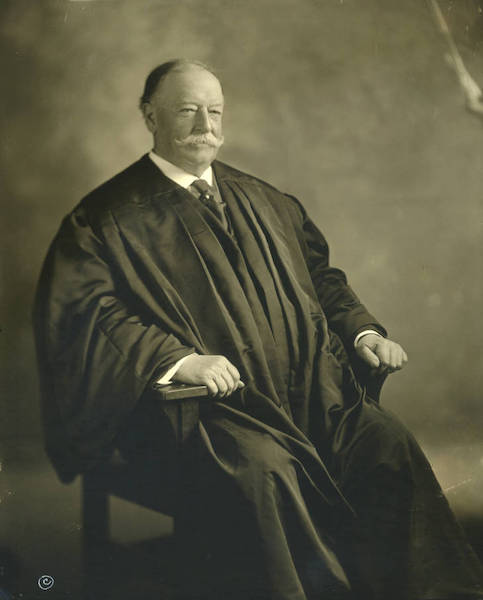 william howard taft portrait as chief justice of the supreme court.