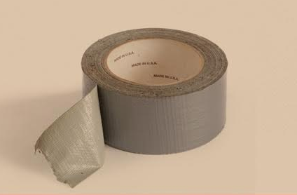 roll of duct tape on white background.