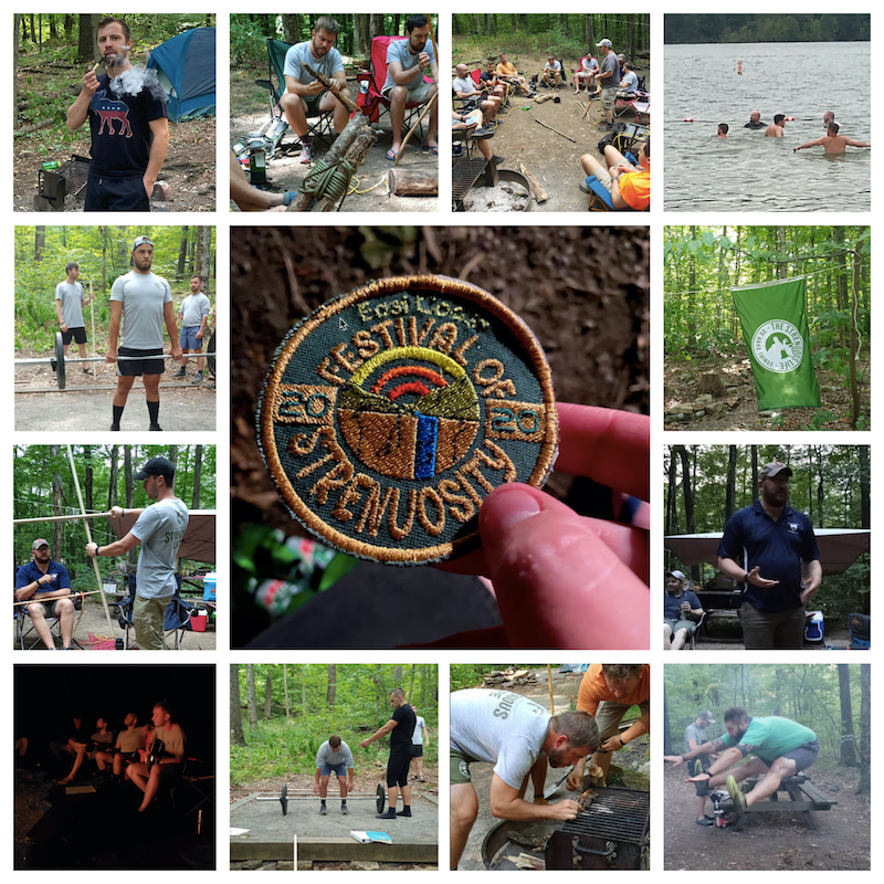 collage of photos from east coast festival of strenuosity.