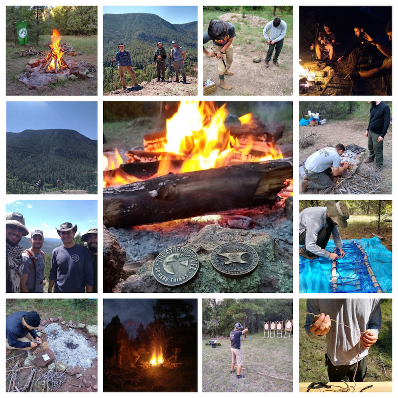 collage of photos from southwest festival of strenuosity.