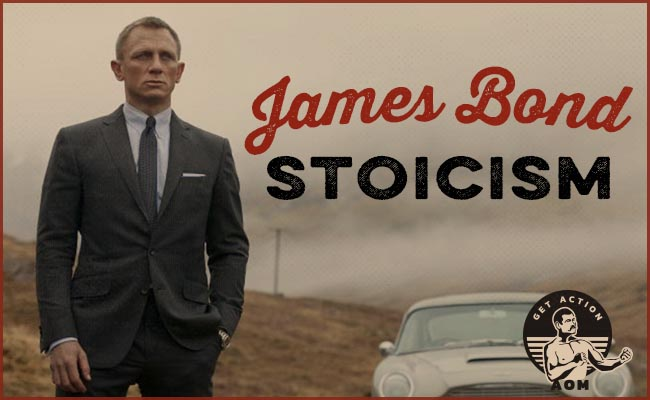 daniel craig as james bond with classic car in background.