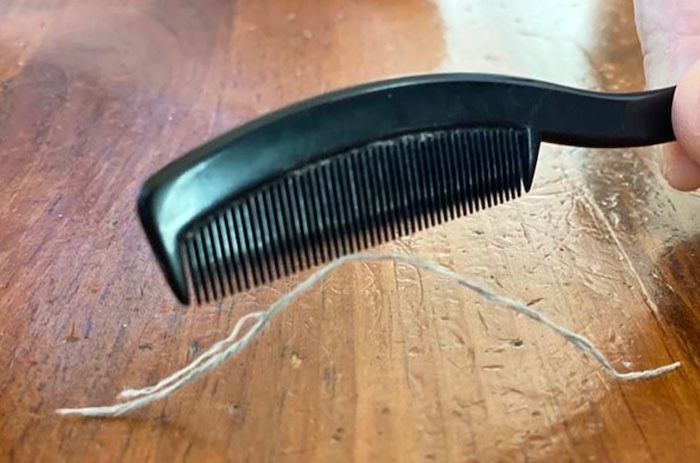 levitate a thread with a comb.