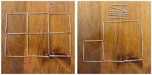 toothpick puzzle to do with kids.